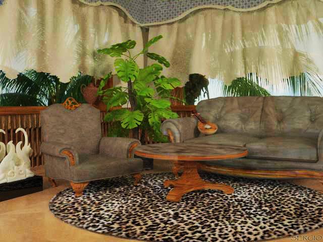 Леопардовая комната