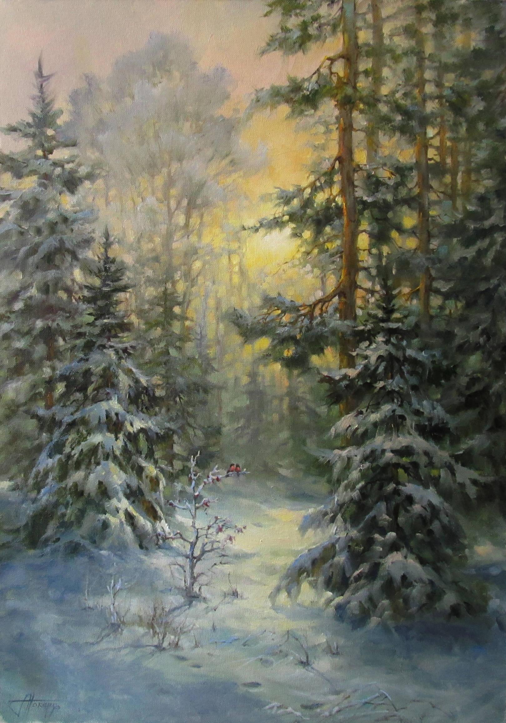 70х50 снегири