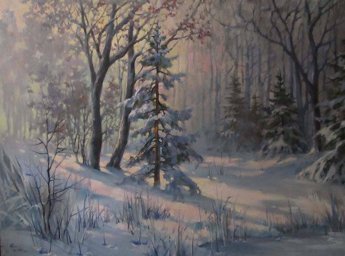 50х70 Зимний лес
