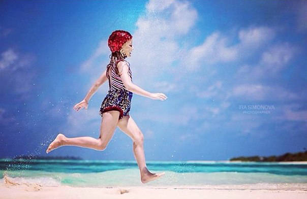 Photographer & concept: Ira Simonova Fashion Designer: Anastasia Kurbatova  Model - Аlisa  Location: Maldives Islands
