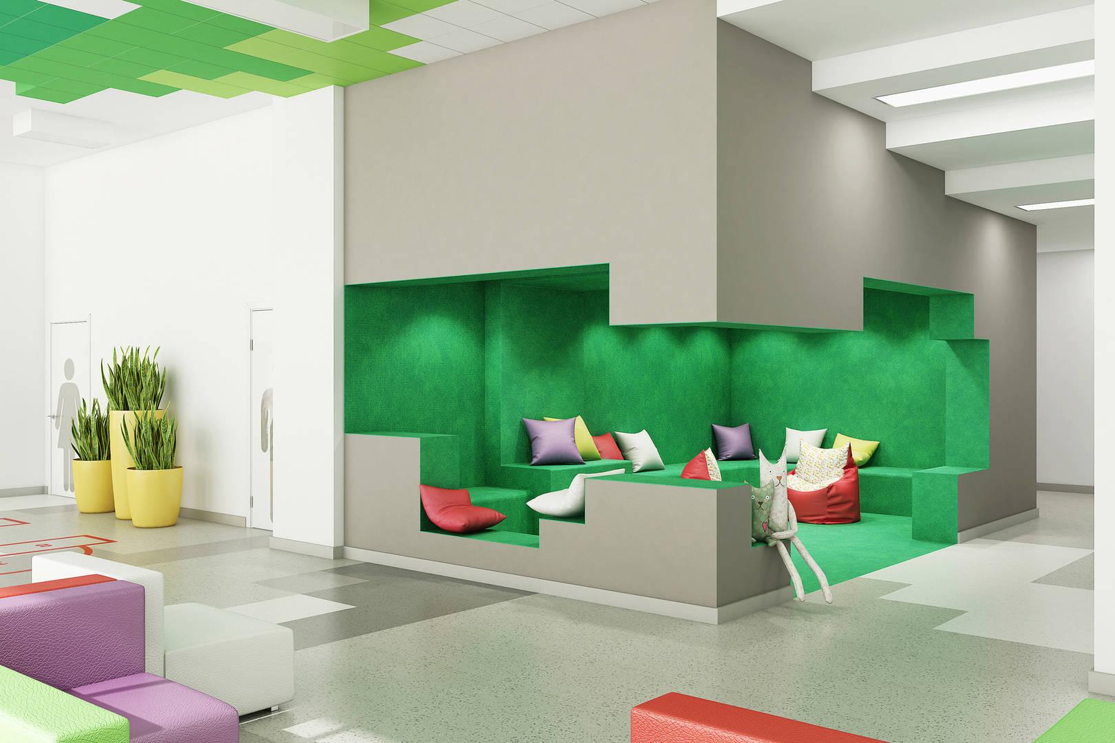 холл. зеленая игровая