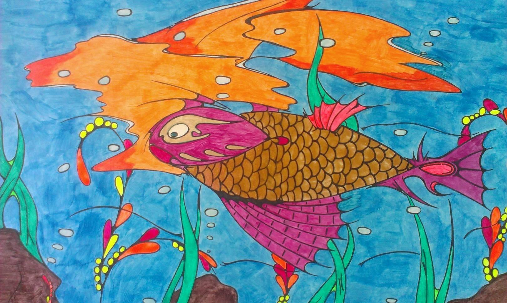 Рыба с золотой чешуей