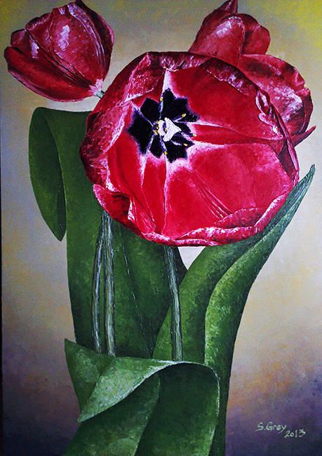 Тюльпаны, 70х100 см., масло, холст, 2013