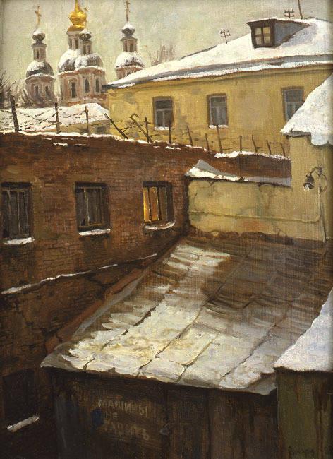 На Большой Ордынке. холст/масло 47см x 35см 1997 г.