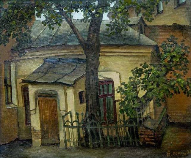 Домик дворника. холст/масло 50см x 60см 1994 г.