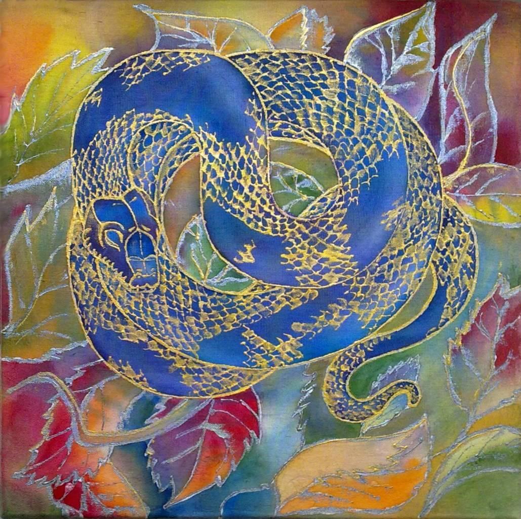 """""""Осенний змей"""", 30х30см"""
