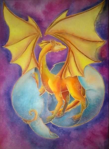 """""""Молодой дракон"""", 50х70см"""