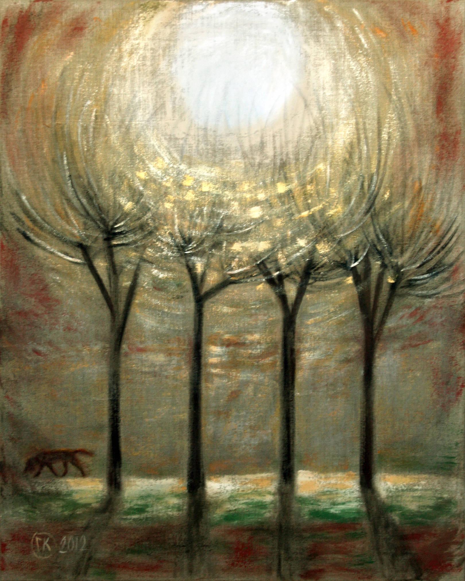 Пейзаж со светилом 100х80