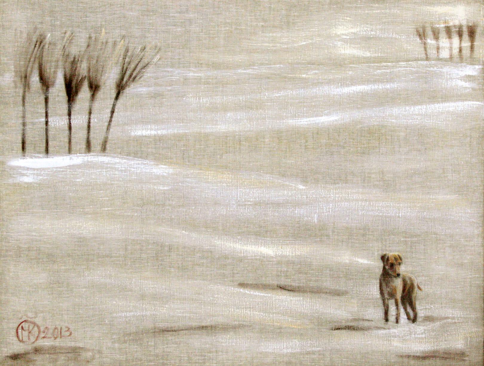 Рыжая собака 90х115