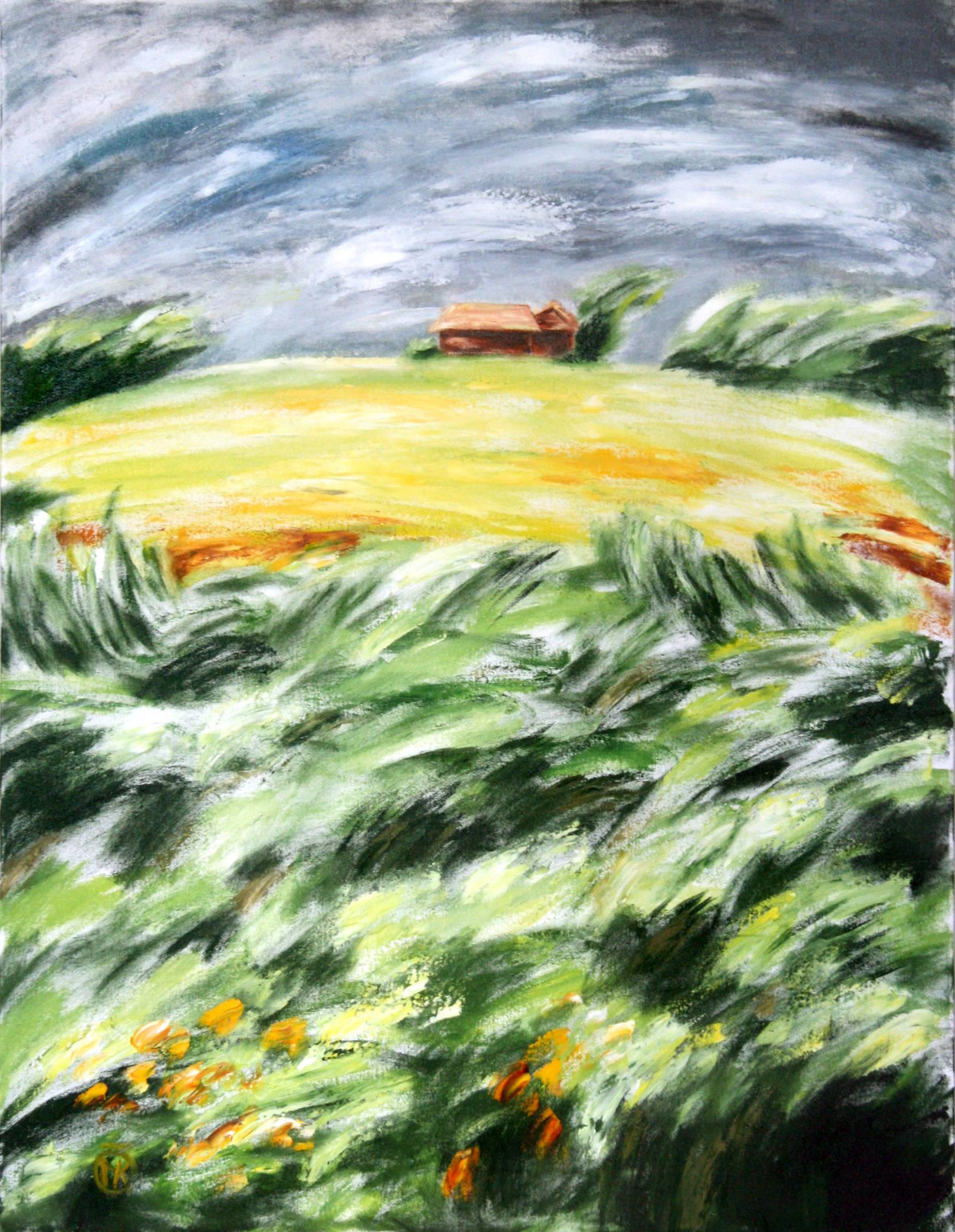 Ветреный день 2012 90х70