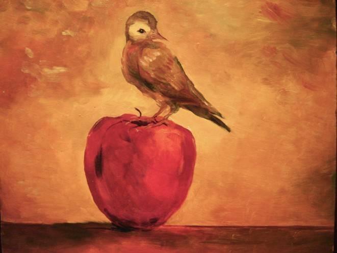 """""""Птичка на яблоке"""""""