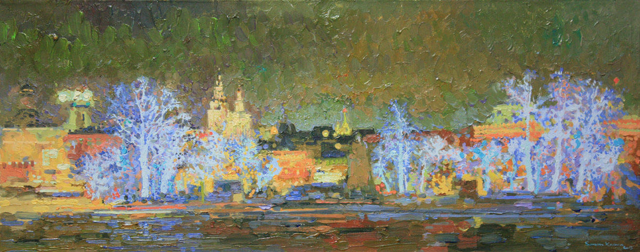New Year. Revolution Square. 2014. Oil on canvas. 20 x 50 cm