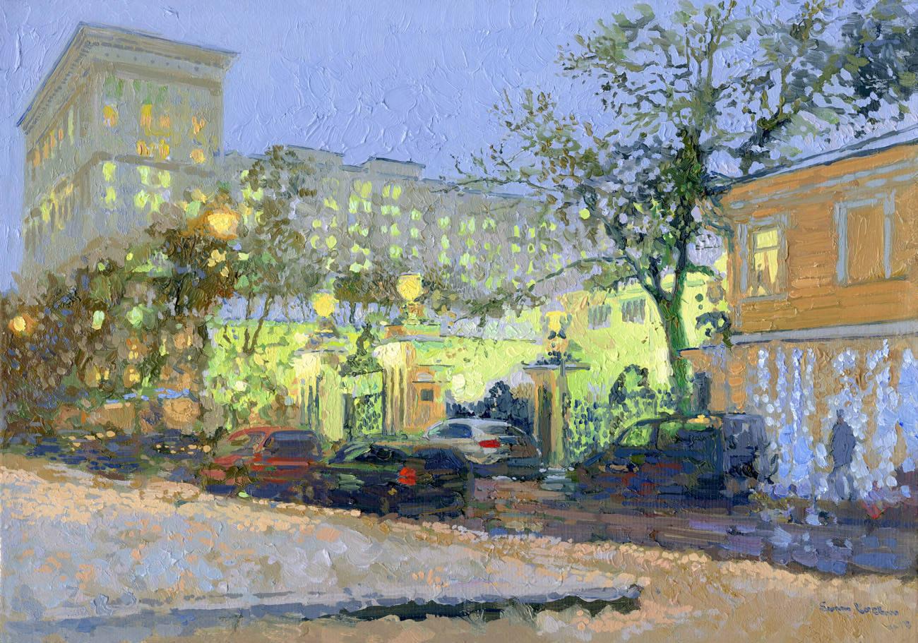 Big Tolmachevsky lane. 2013. Oil on canvas. 25 x 35 cm.