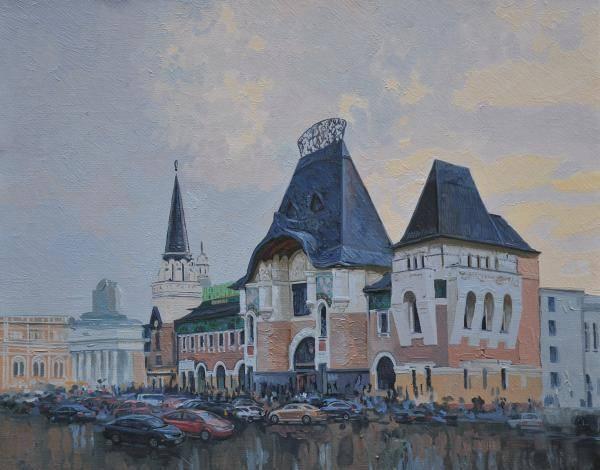 Yaroslavsky railway. 2008. Canvas, oil. 40 x 50 cm.