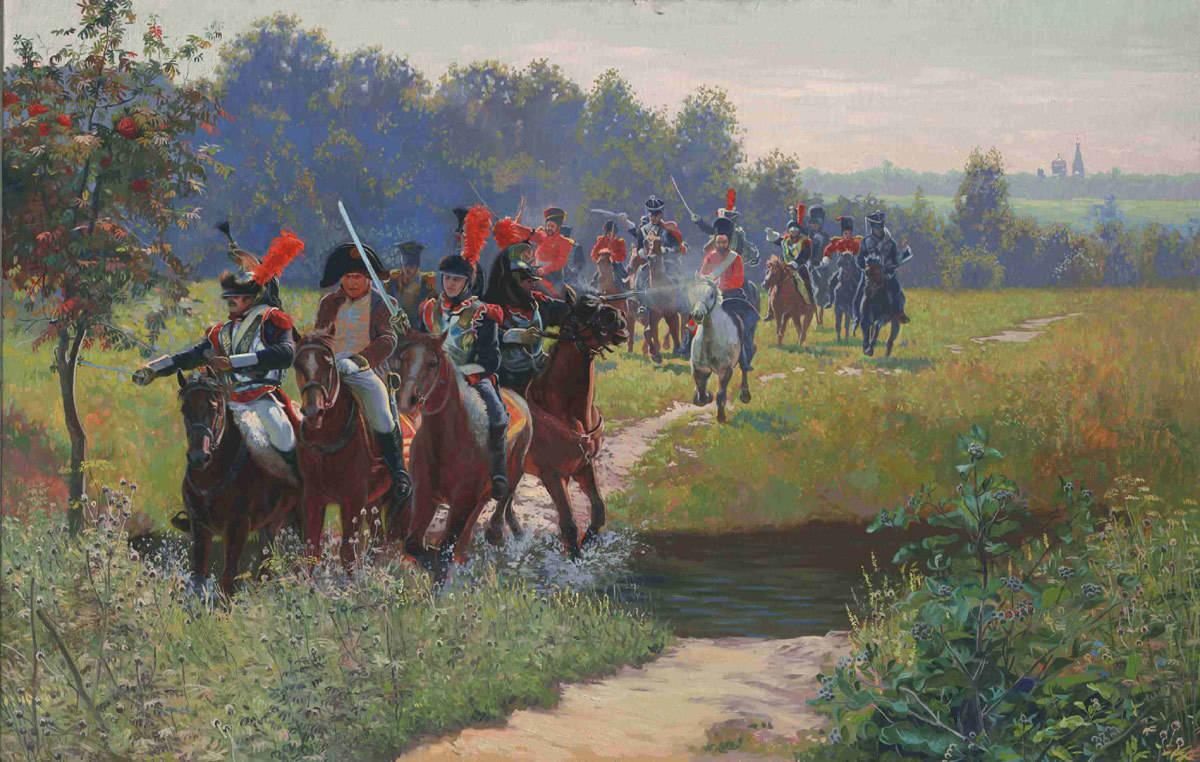 Napoleon's Escape. 2005. Canvas, oil. 65 x 104 cm.