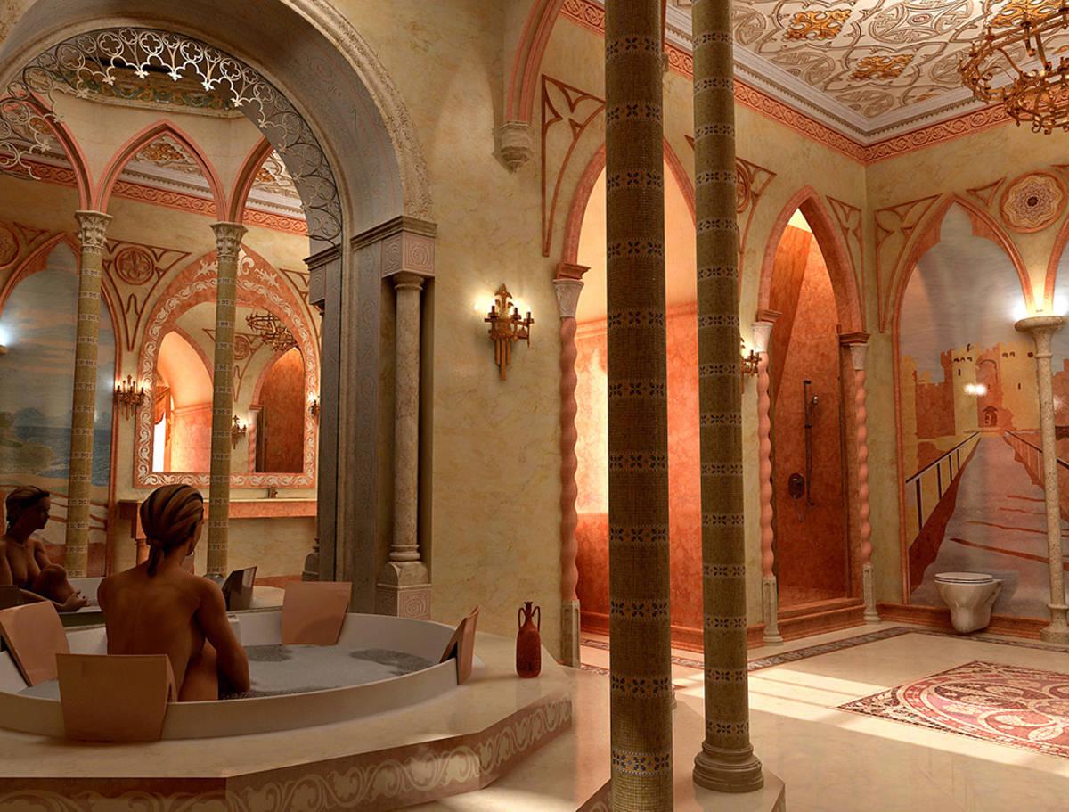 Ванная в готике