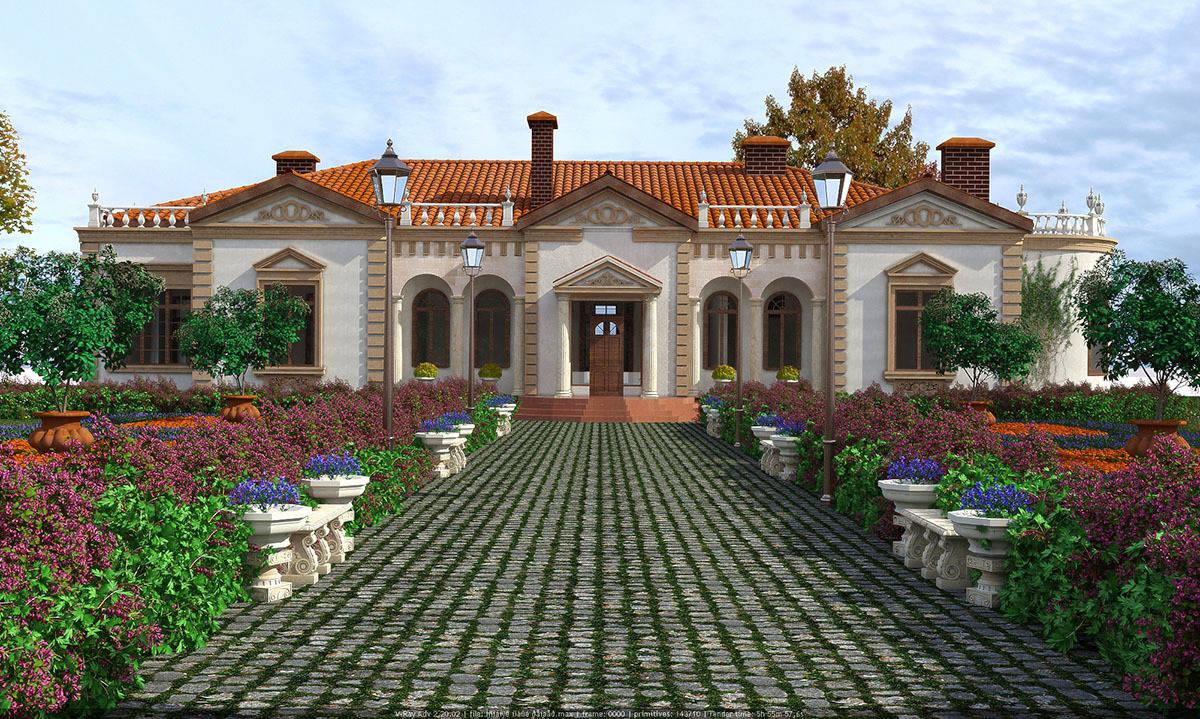 Фасад средиземноморский