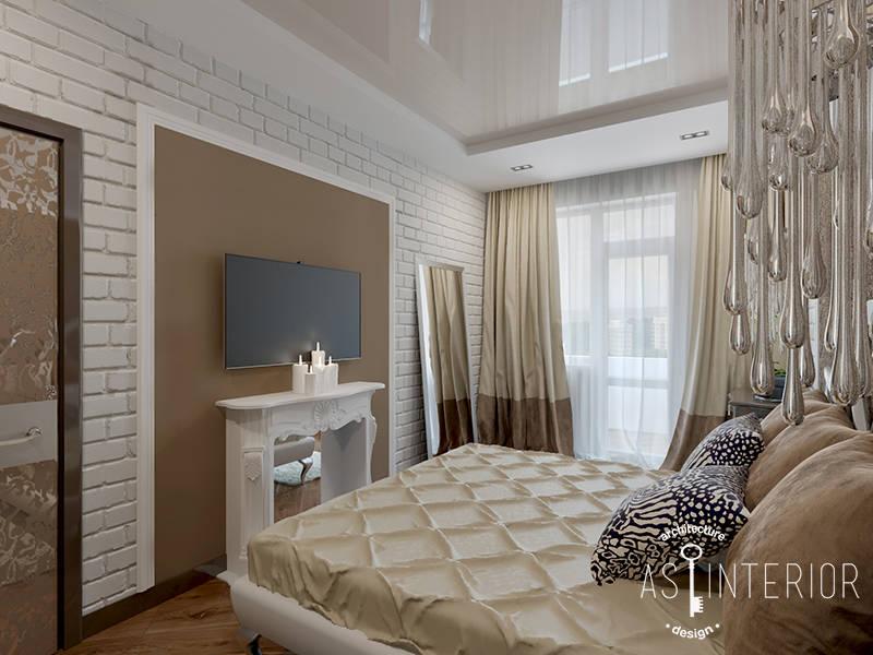 Ар-деко в 1-комнатной квартире