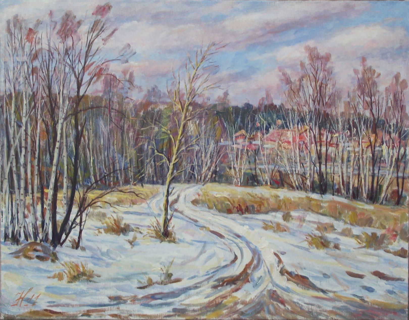 Зима за Стоянкой 2012г. 60*80