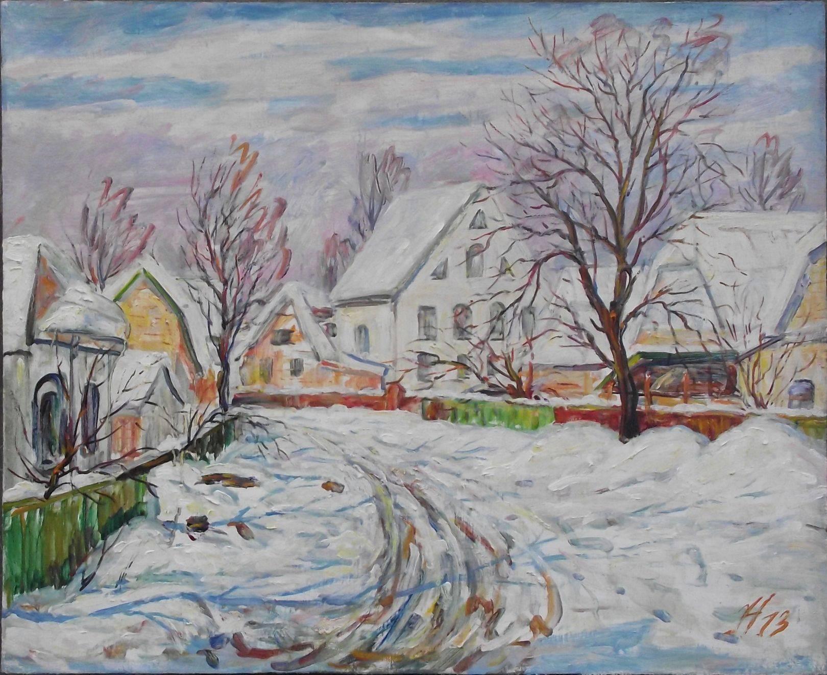 Новый снег 2013г. х.м 60*80