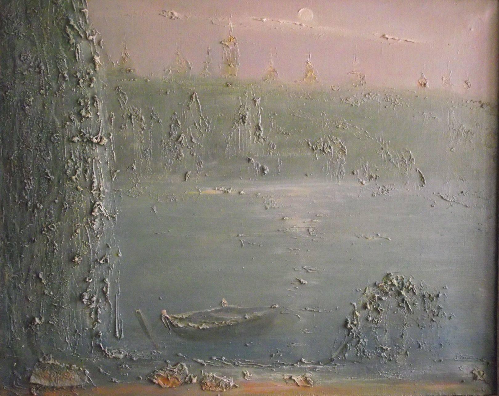 Вид на Лавру из гидропарка 1996г.60*75