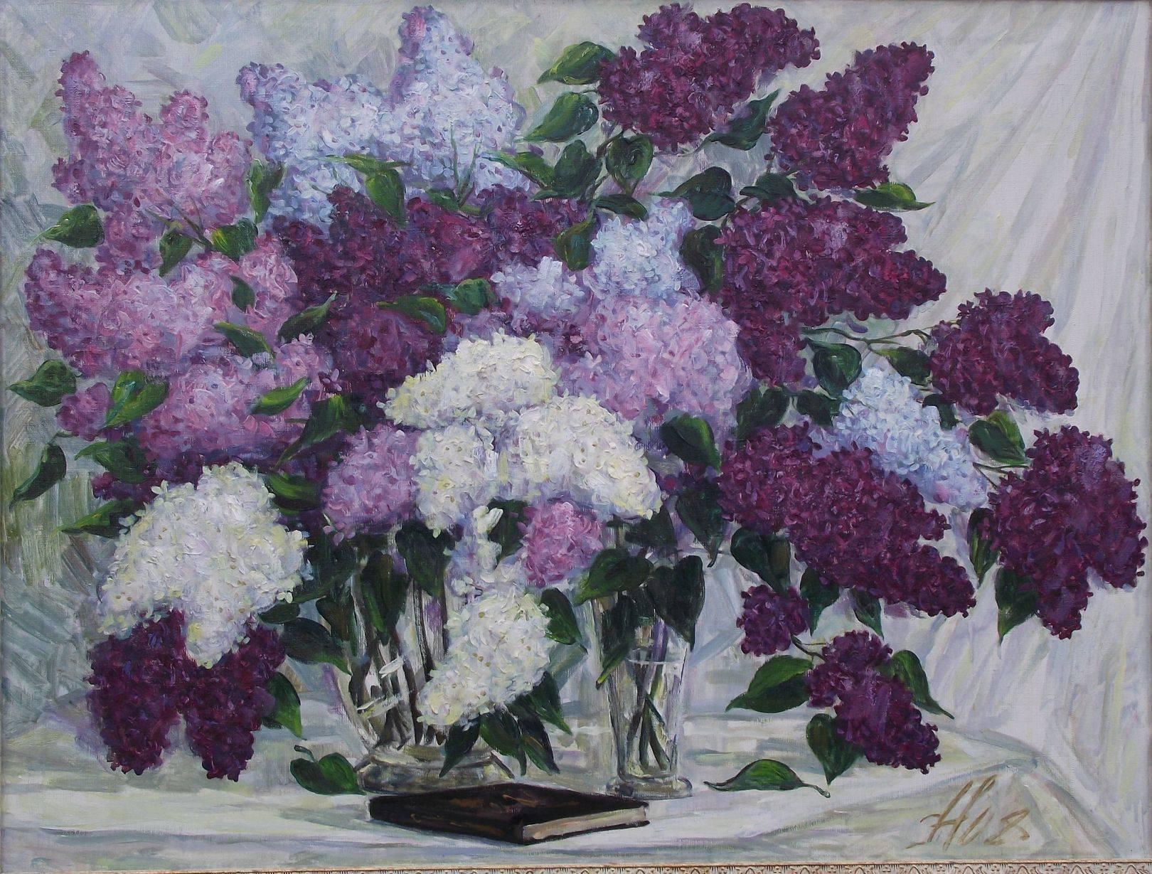 сирень х.м,2008г.70*90