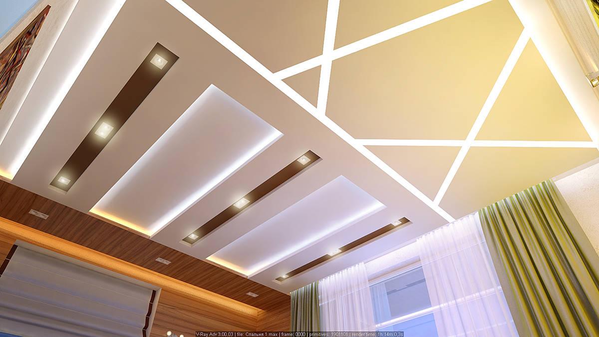 Спальня потолки