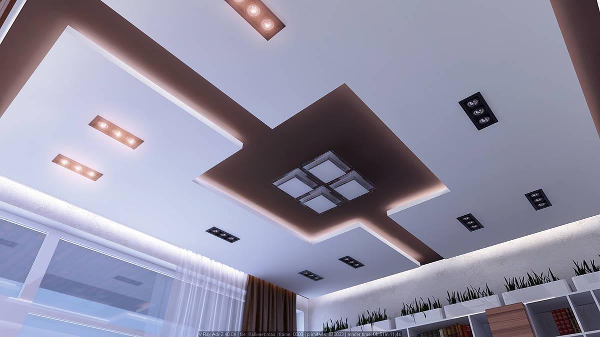 Кабинет потолки