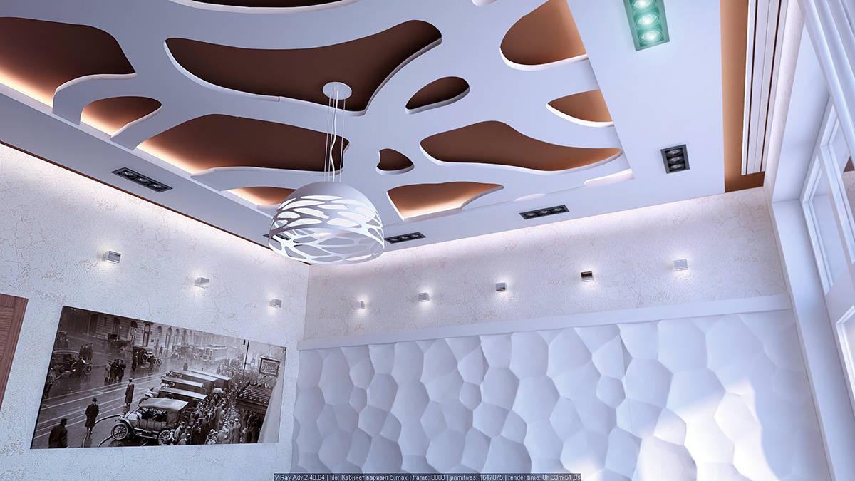 Кабинет потолки вариант