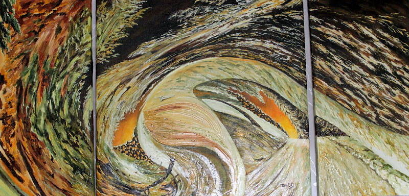 Притяжение. Триптих 70*140 холст, масло, 2014 Новосибирск