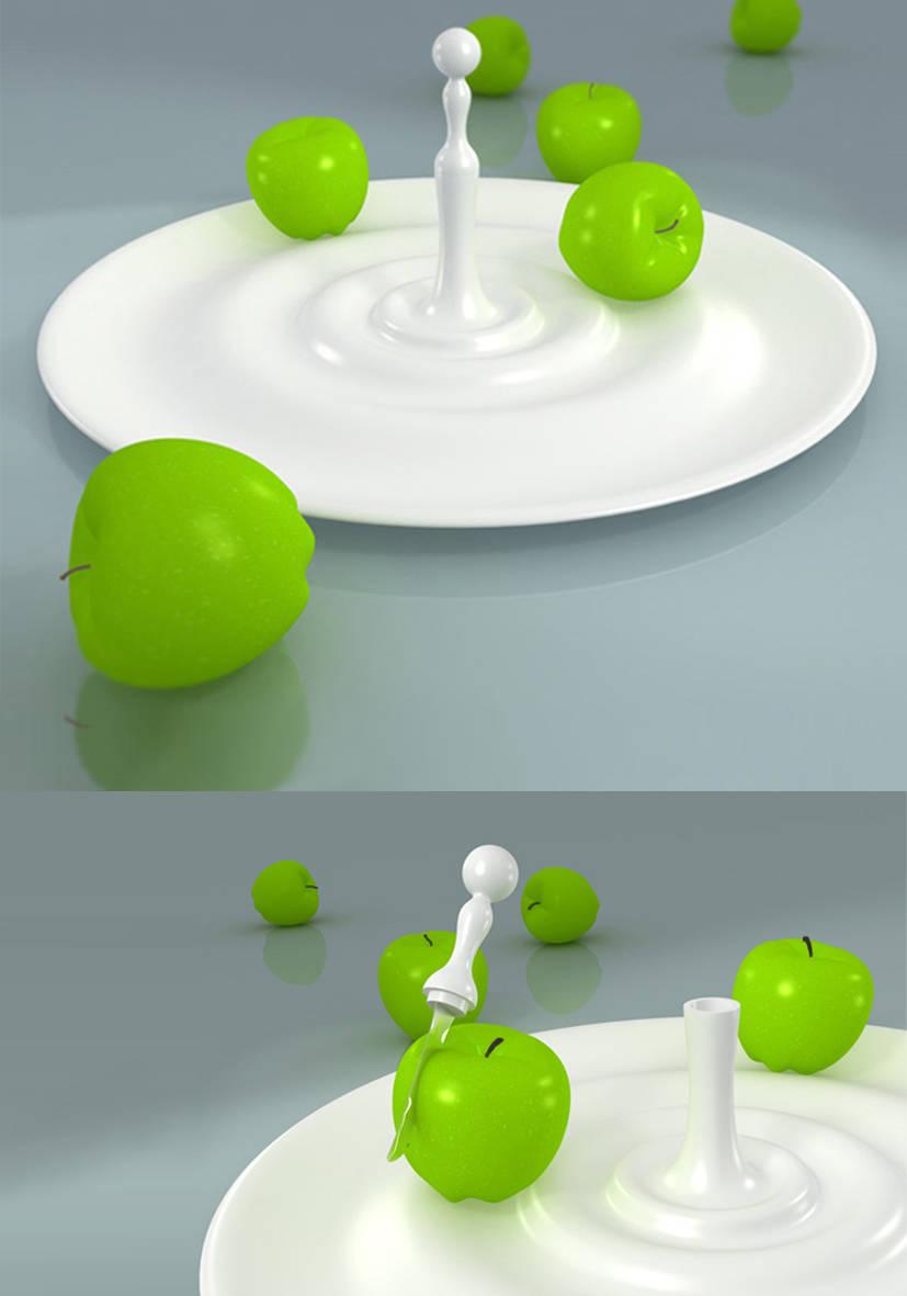 """Ваза для фруктов  """"Капля"""". Пластикрит."""
