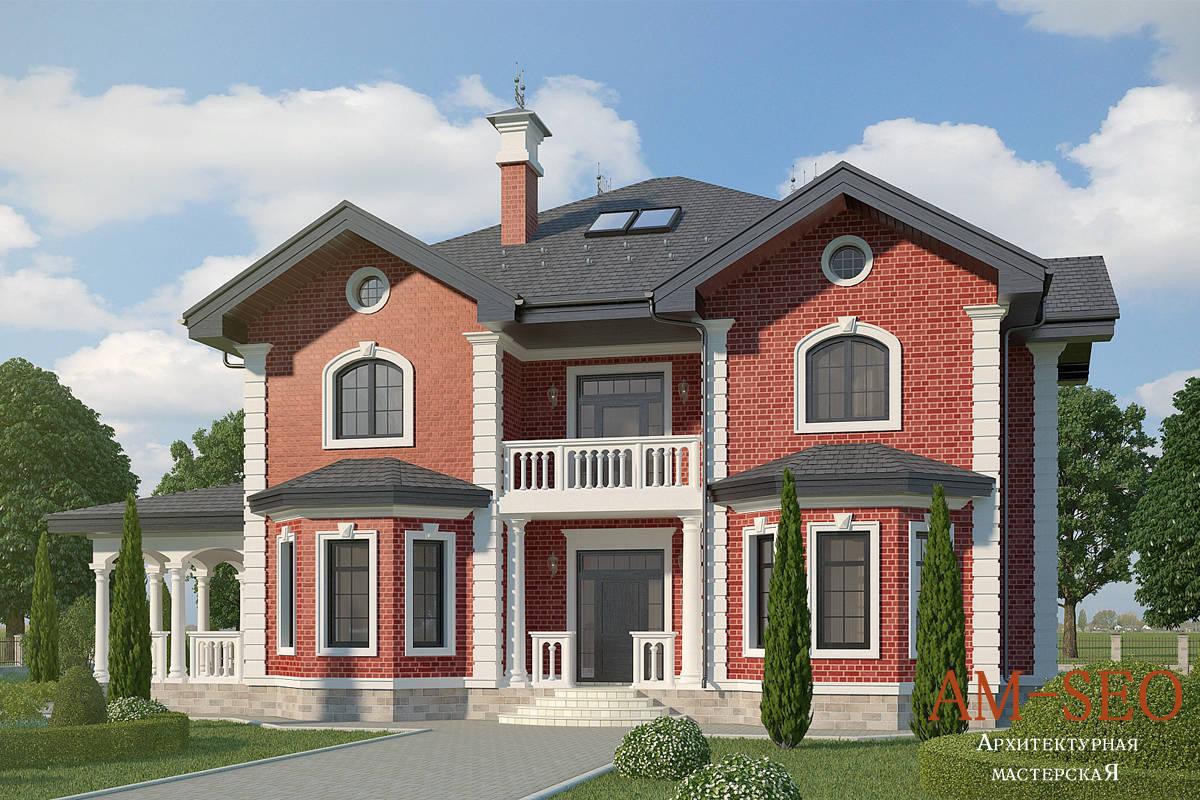 Проект загородного дома в английском стиле