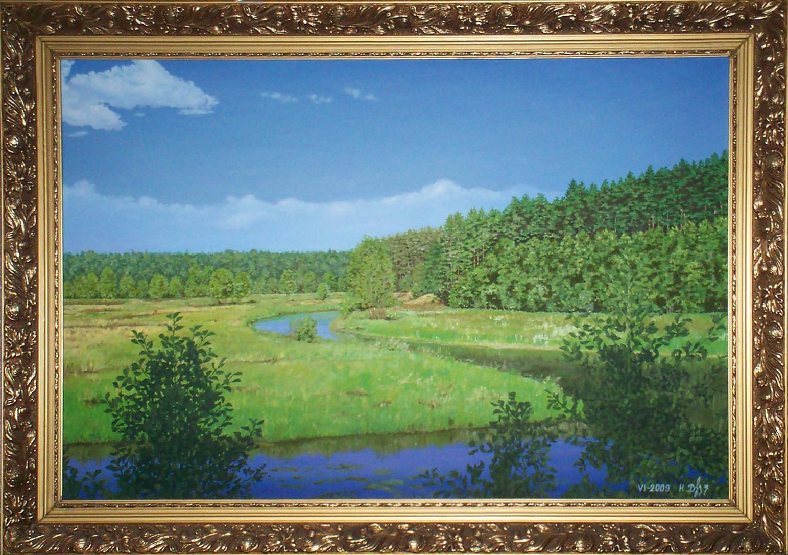 Река Гавья. Холст, масло. 2009
