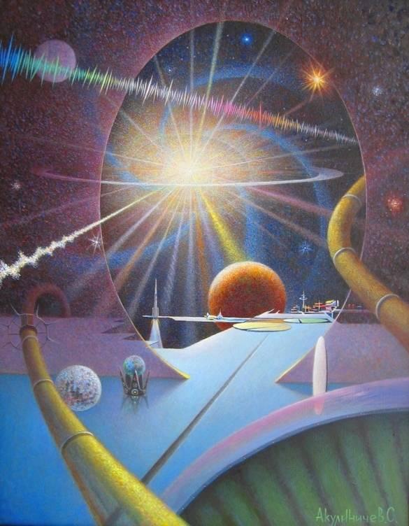 Далёкой космос 90х70,    х-м,   2011г