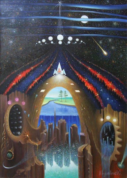 Окно в космос, 70х50, х-м, 2012г
