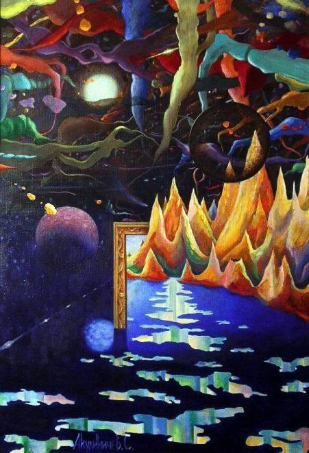 Вершина Космоса, 100х70, х-м, 1996 г.