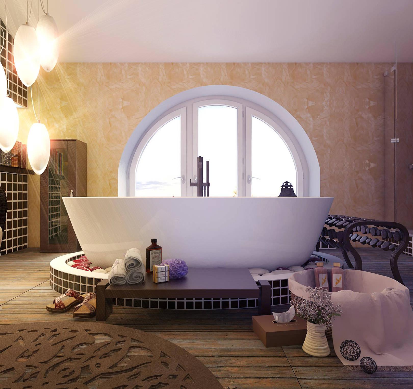 Ванна на мансарде