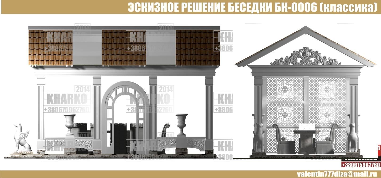 ПРОЕКТ БЕСЕДКИ БК-0006 (классика)