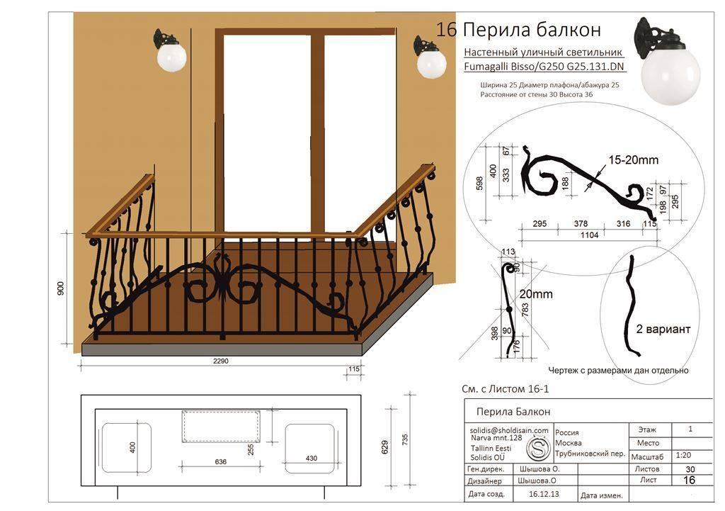Ковка, для балкона