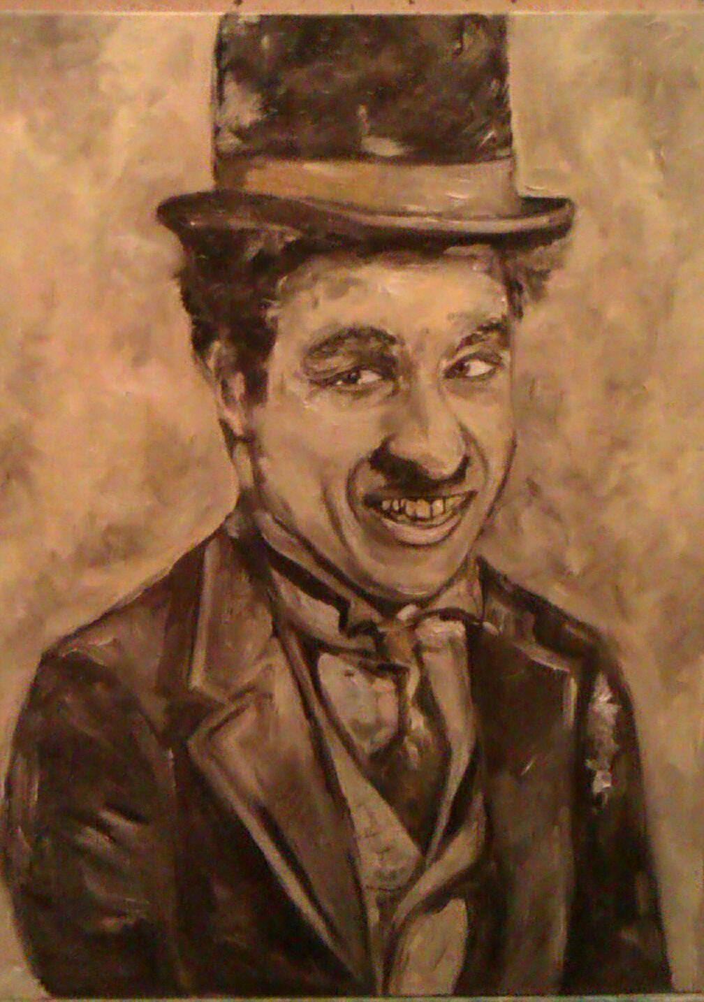 Чаплин, холст, масло, 40*30, 2014 г