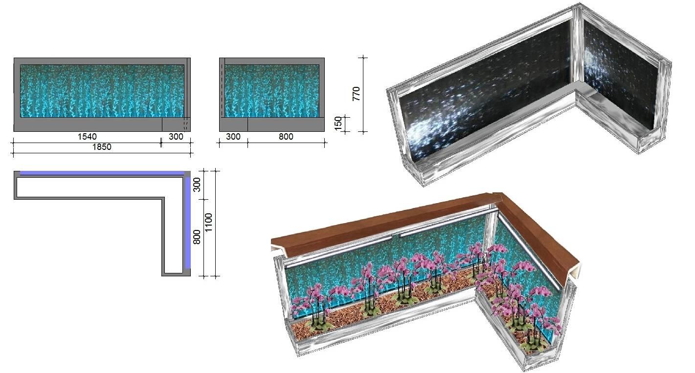Воздушный аквариум для подсветки орхидеи.