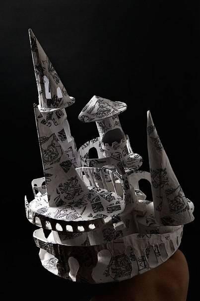 """Шляпа-башня для перформанса """"Башни"""", для старшей группы уличного театра """"Дети Улиц"""", Москва, Санкт-Петербург"""