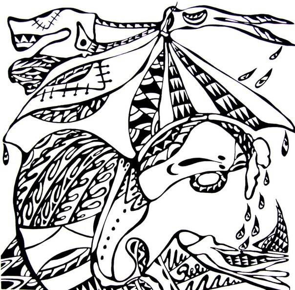 Эскизы с персонажем Пам-Пи-Ду для сумок из льна