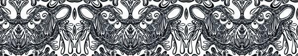 Один из фрагментов авторской узорографики для декора моды из льна