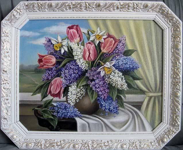 Дыхание весны (холст,масло)-художник Ядвига Сенько