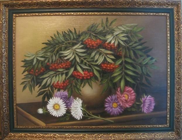 Дыхание осени (холст,масло)-художник Ядвига Сенько