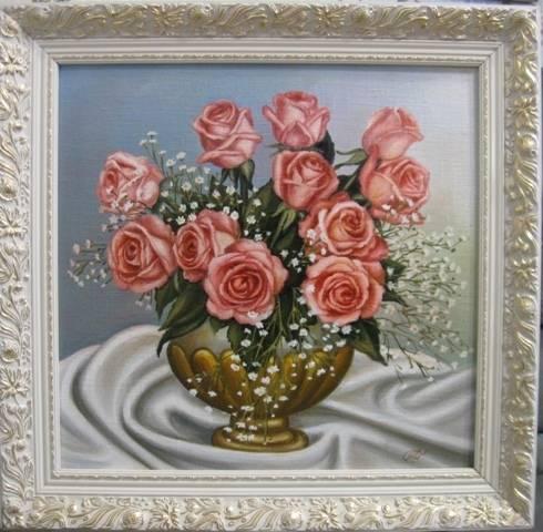 Розы для любимой (холст,масло)-художник Ядвига Сенько