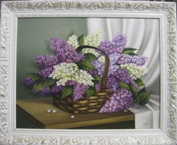 Сирень (холст,масло)-художник Ядвига Сенько