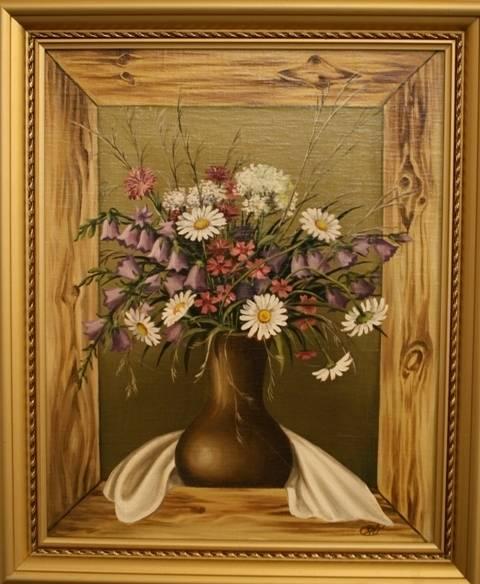 Цветы полевые (холст,масло)-художник Ядвига Сенько