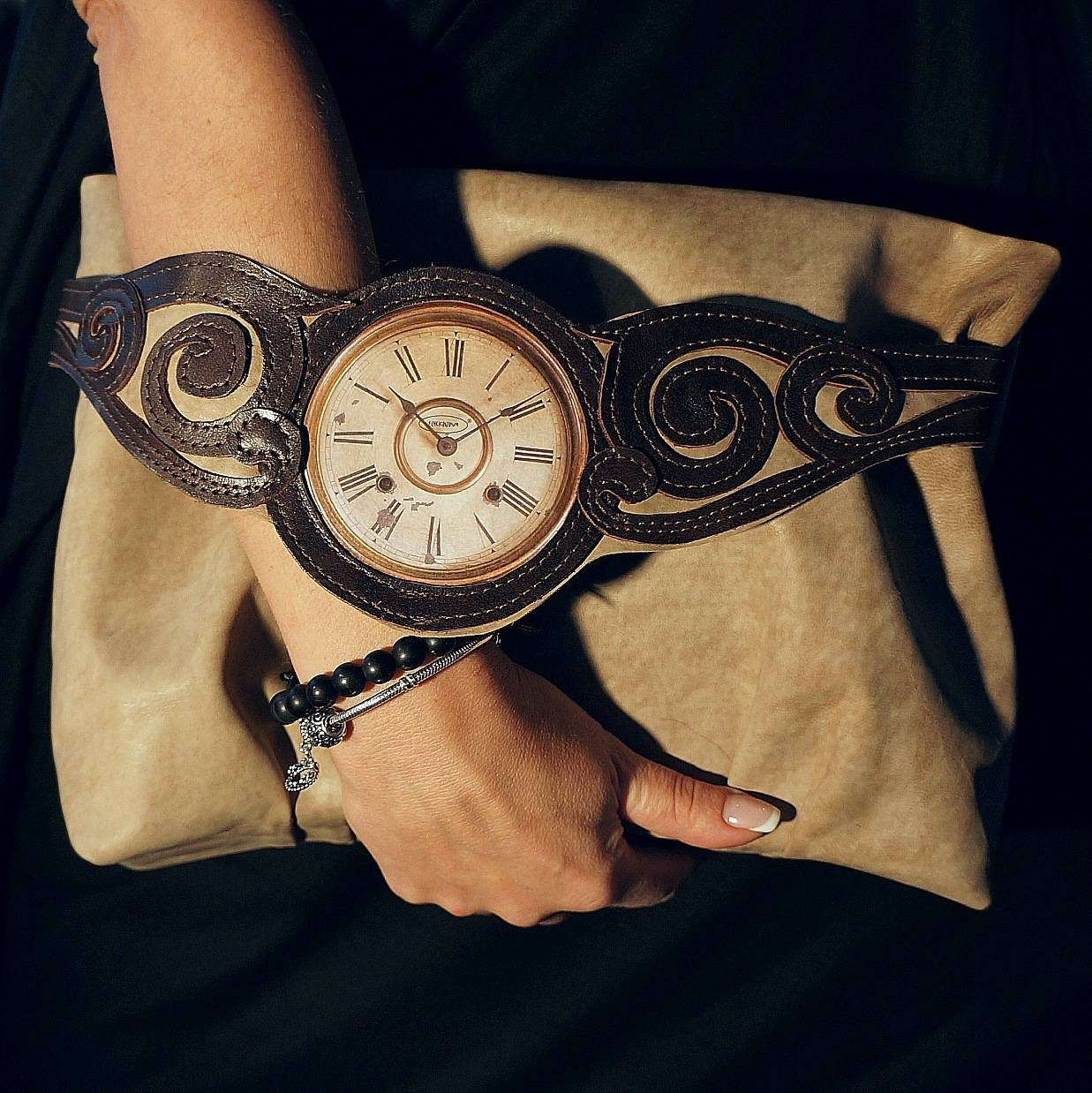 "Womens bag. E.CHEKRIZOVA ""What time is it?"""